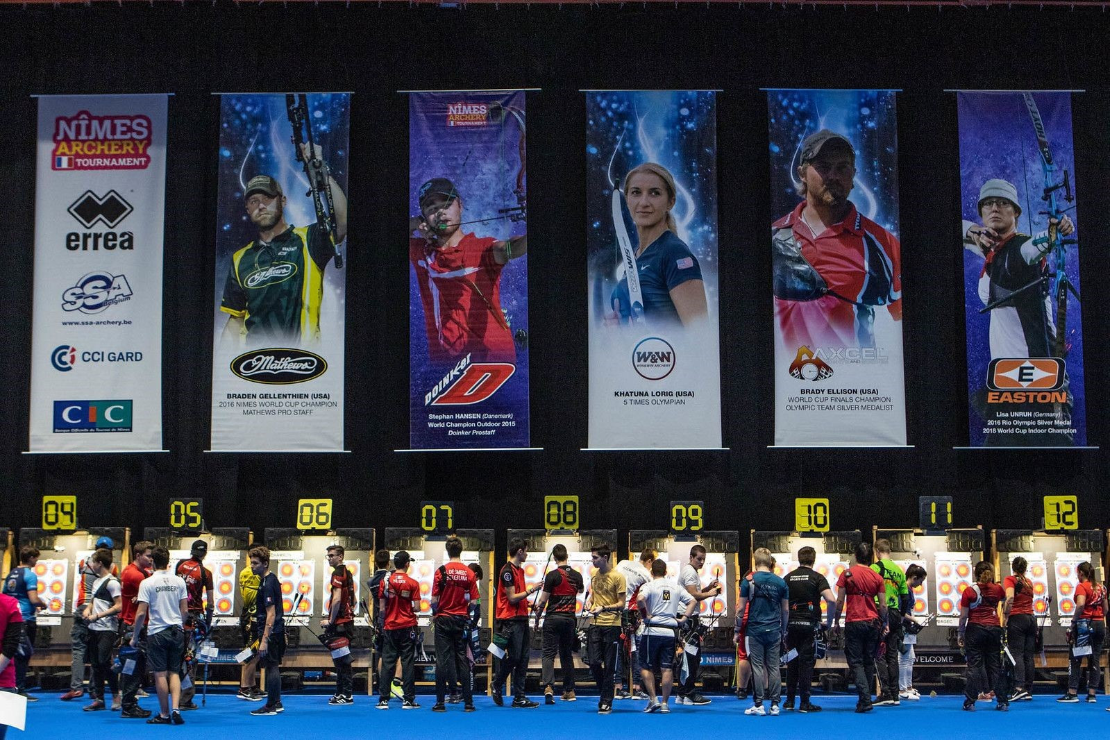 The Indoor Archery World Series is a collection of mass-participation and elite tournaments held in cities around the world ©World Archery
