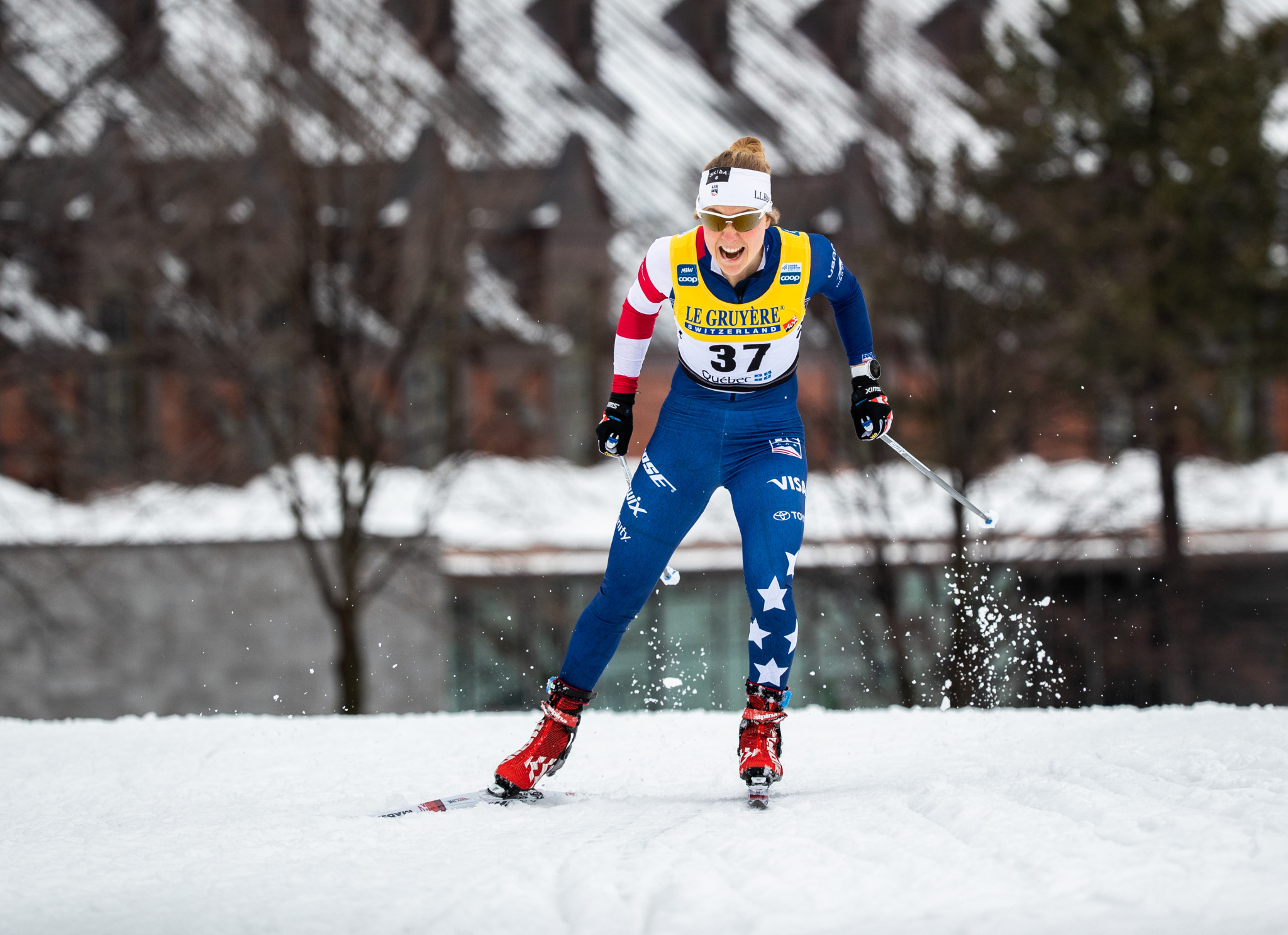 Ida Sargent from the United States won the women's classic sprint at the 2019 US Cross-Country Championships ©Getty Images