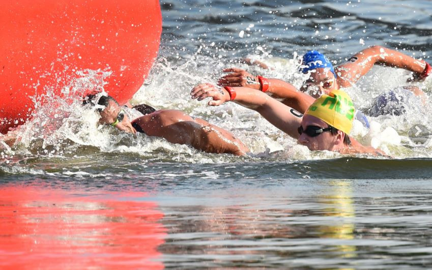 Athletes at the marathon swimming test event at Odaiba Marine Park complained about the heat and water conditions ©Getty Images