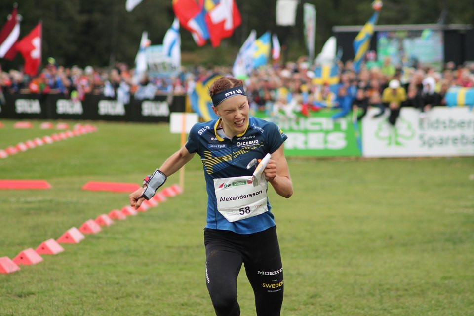 Tove Alexandersson also completed the double as she won the women's middle event ©Facebook/World Orienteering Championships