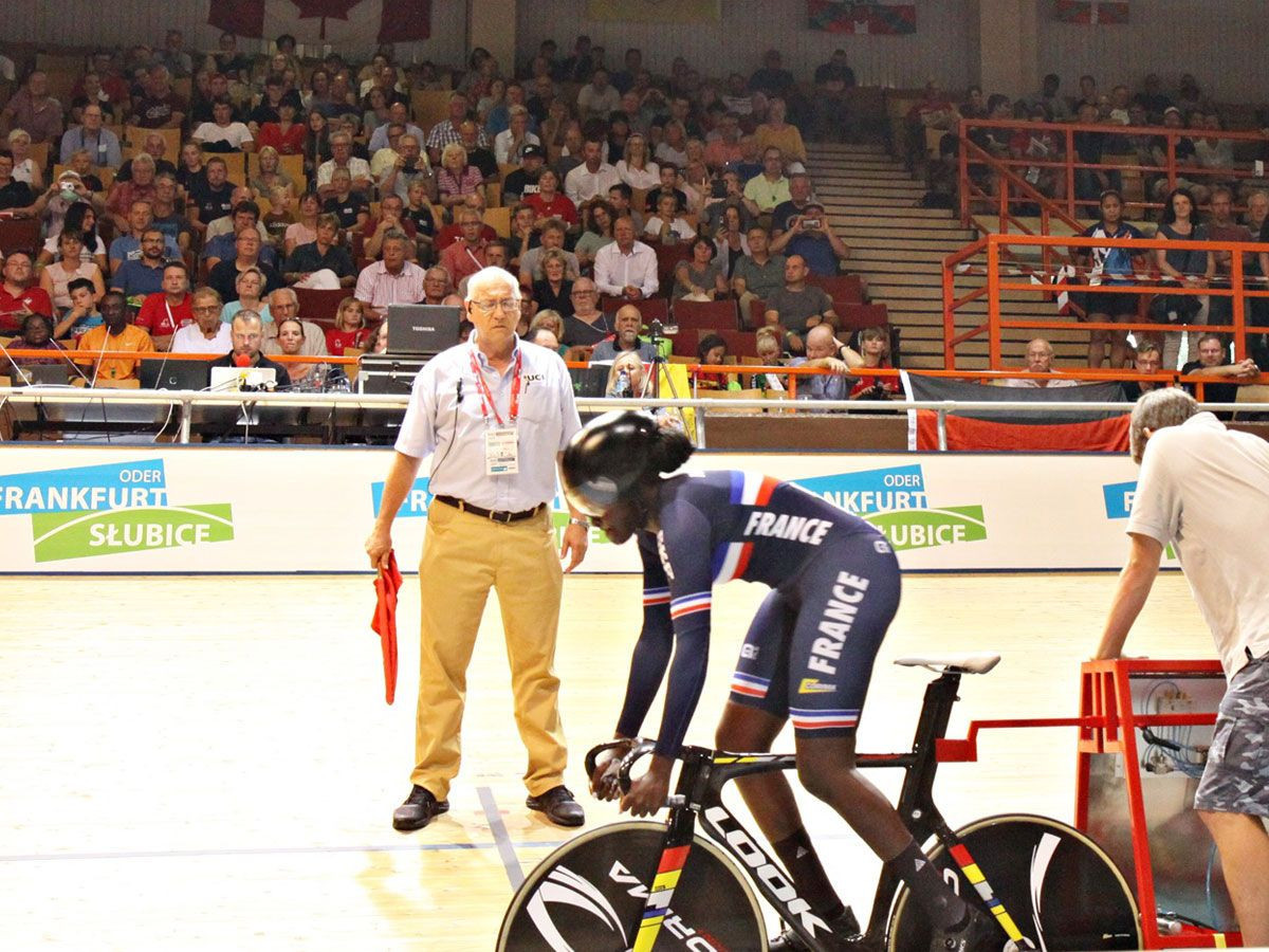 Kouame claims time trial gold at UCI Junior Track Cycling World Championships