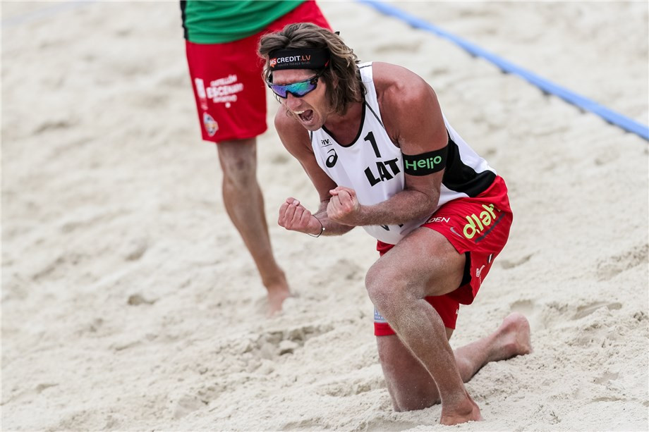 Latvia's defending champions stop Brazil clean sweep at FIVB Beach World Tour event in Moscow