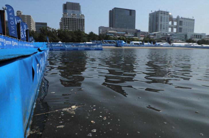 Swimming in yesterday's Paratriathlon test event was cancelled when the water in Tokyo Bay was found to contain E.coli bacteria ©Getty Images