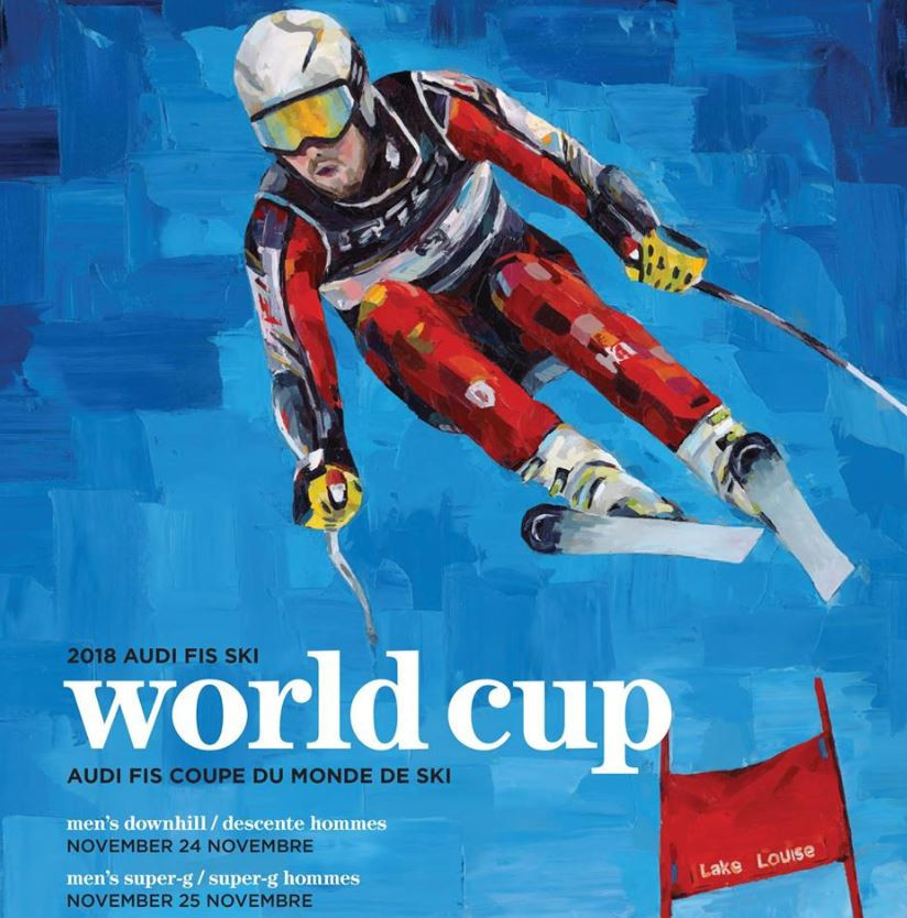 The 2018 World Cup poster competition was won by artist Patrick Biggs ©Facebook Alpine Canada Alpin