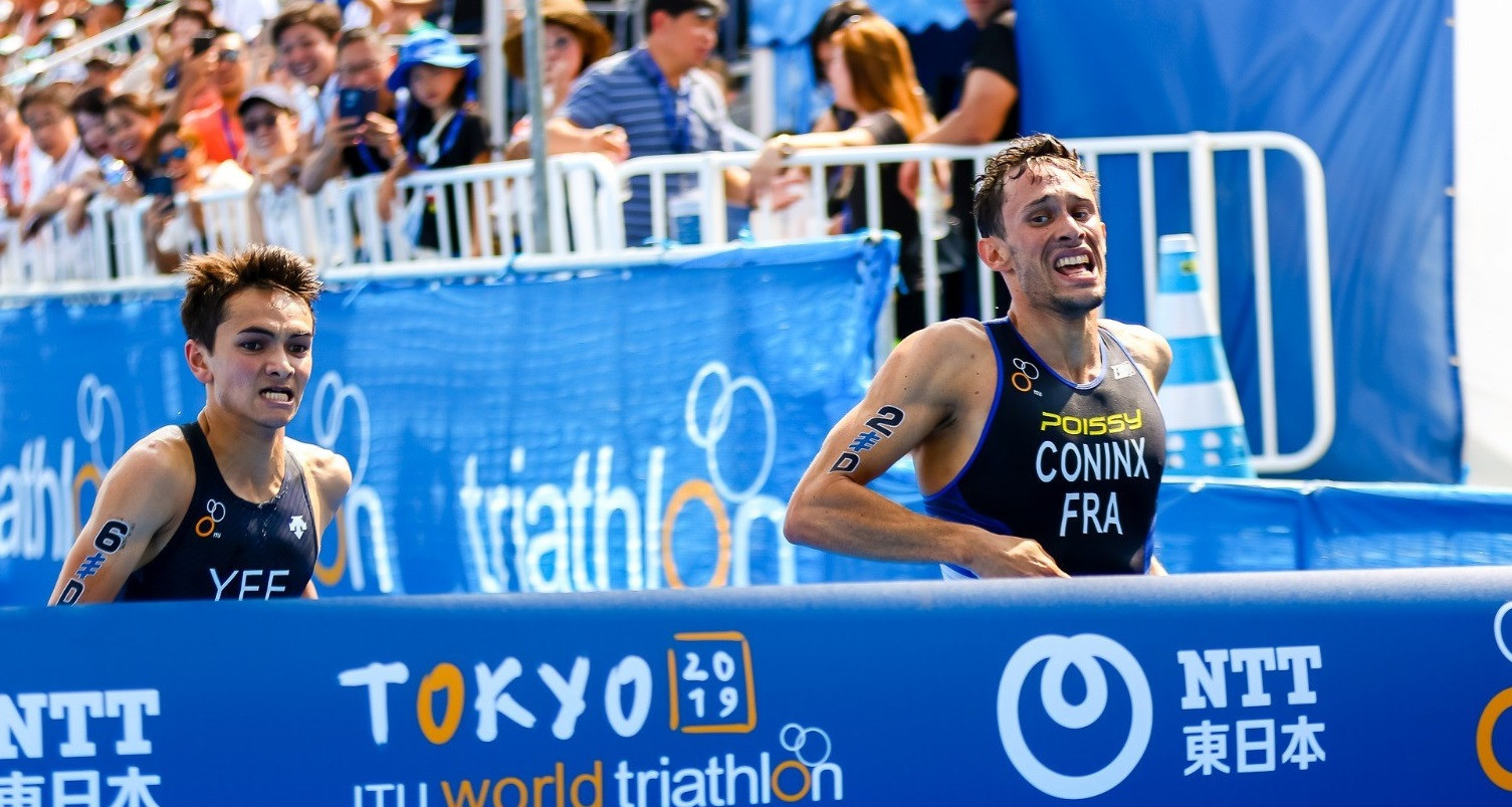 France win mixed relay after photo-finish at Tokyo 2020 triathlon test event