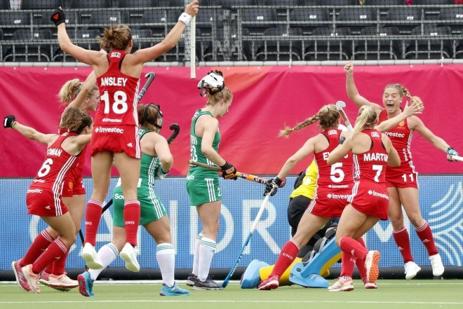 England held off a late Irish fightback to secure their opening victory in Pool B ©England Hockey