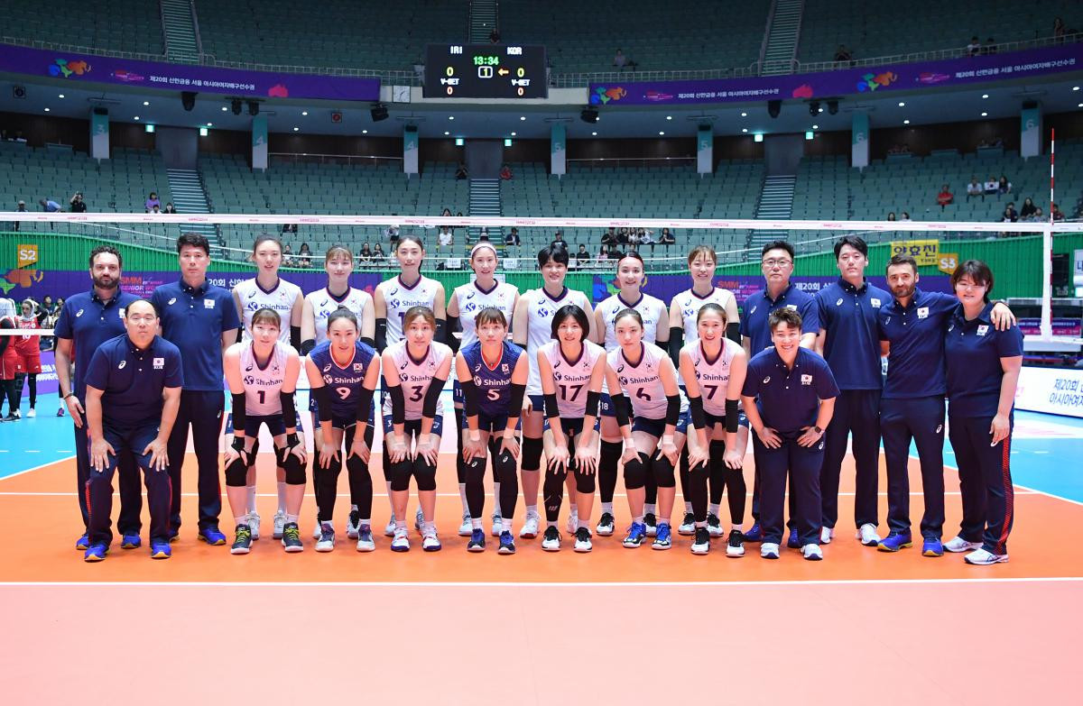 Hosts South Korea beat Iran on day one of Asian Women's Volleyball Championships