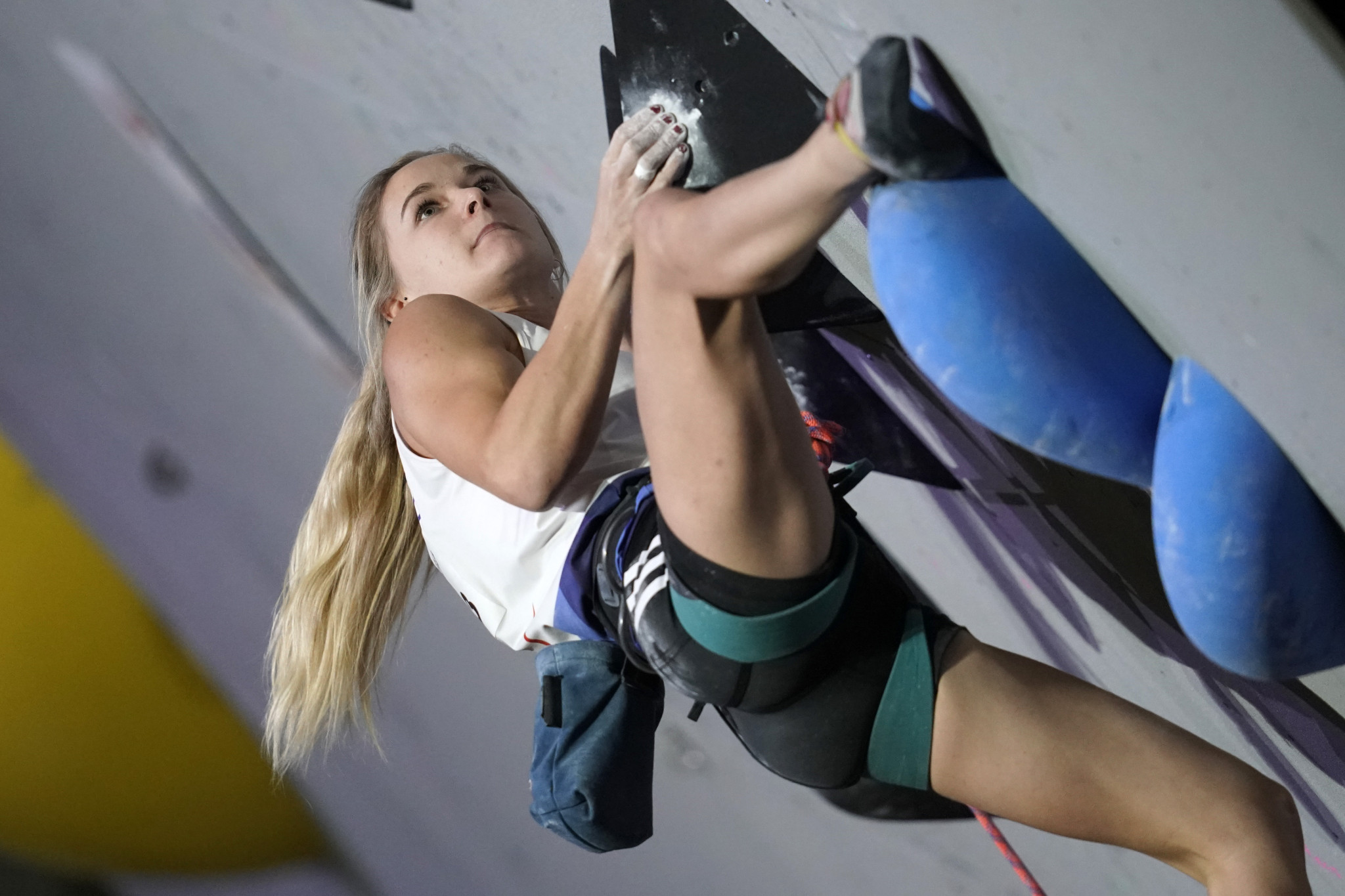 Shauna Coxsey led combined qualification for Britain ©IFSC
