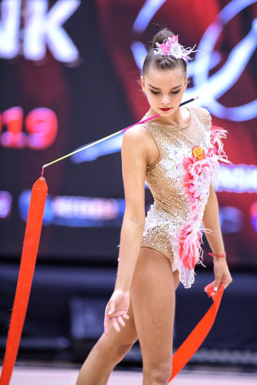 Dina Averina claims golden hat-trick at FIG World Challenge Cup
