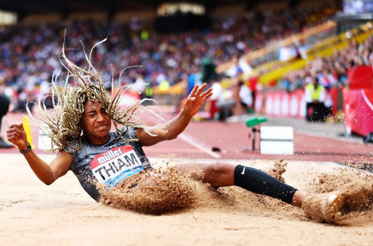 Olympic, world and European heptathlon champion Nafissatou Thiam of Belgium set a national record of 6.86m to win a hugely competitive long jump at today's IAAF Diamond League meeting in Birmingham ©Getty Images
