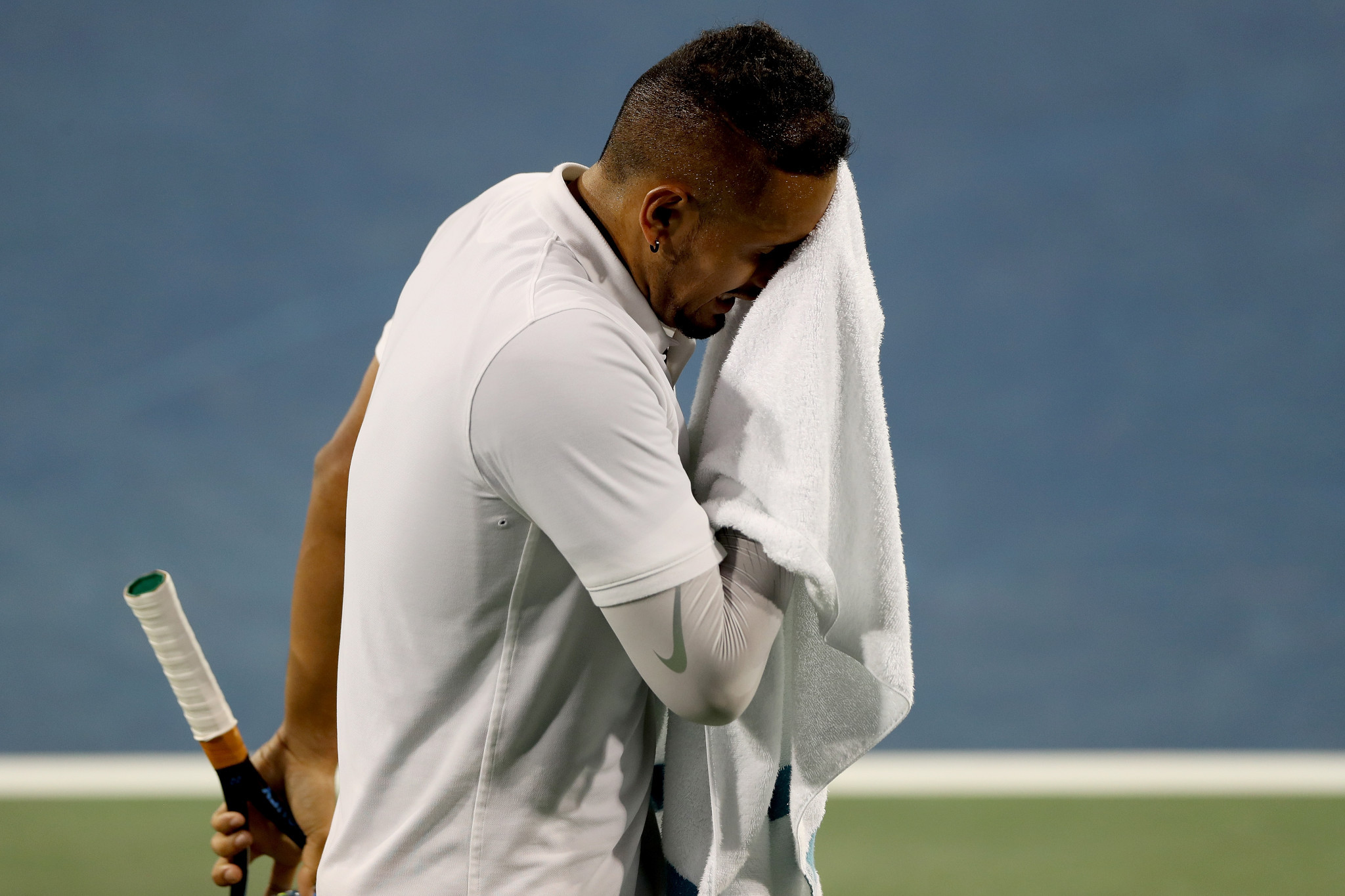 Nick Kyrgios suffered an on-court meltdown at the Cincinnati Masters, receiving a record ATP fine ©Getty Images