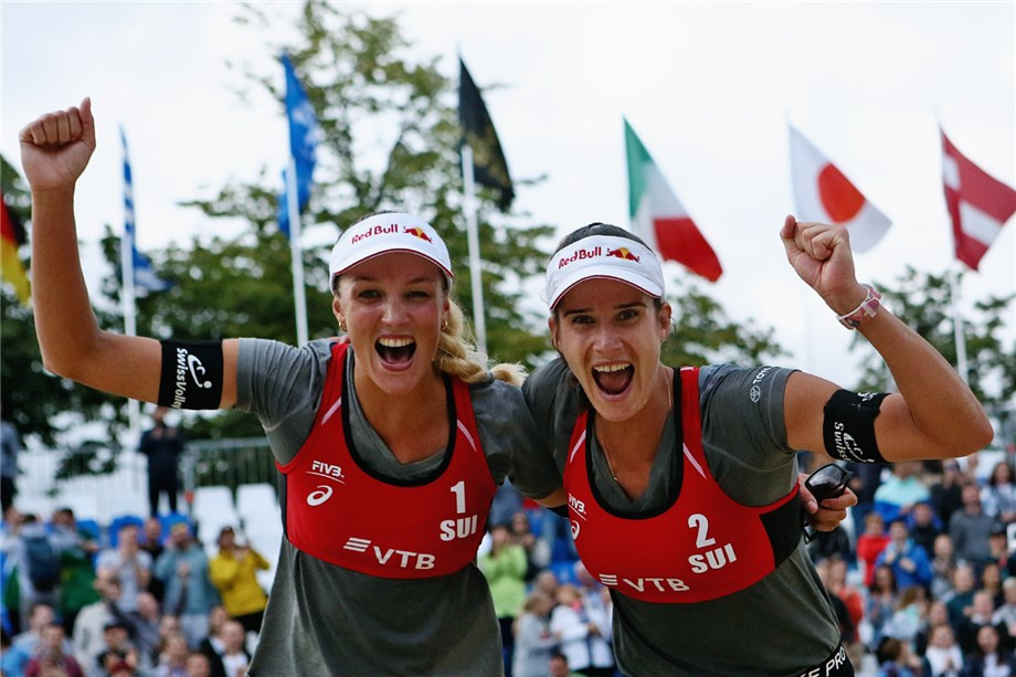 Switzerland's Joana Heidrich and Anouk Verge-Depre won the women's FIVB Beach World Tour event in Moscow ©FIVB