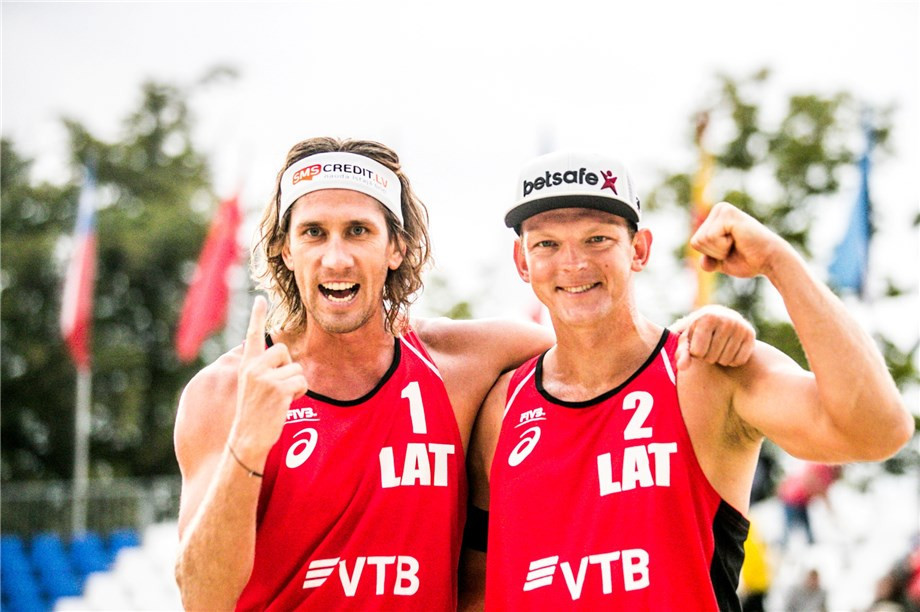 Latvian pair retain title at FIVB Beach World Tour event in Moscow