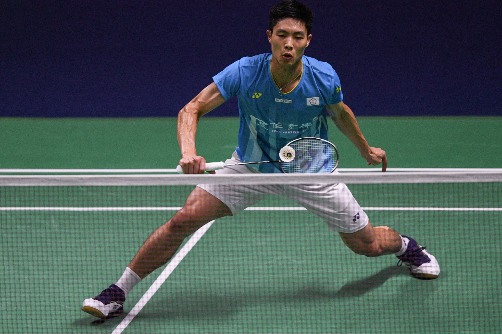 Second seed Chou Tien-chen was given a tough workout by Denmark's Hans-Kristian Vittinghus ©Getty Images