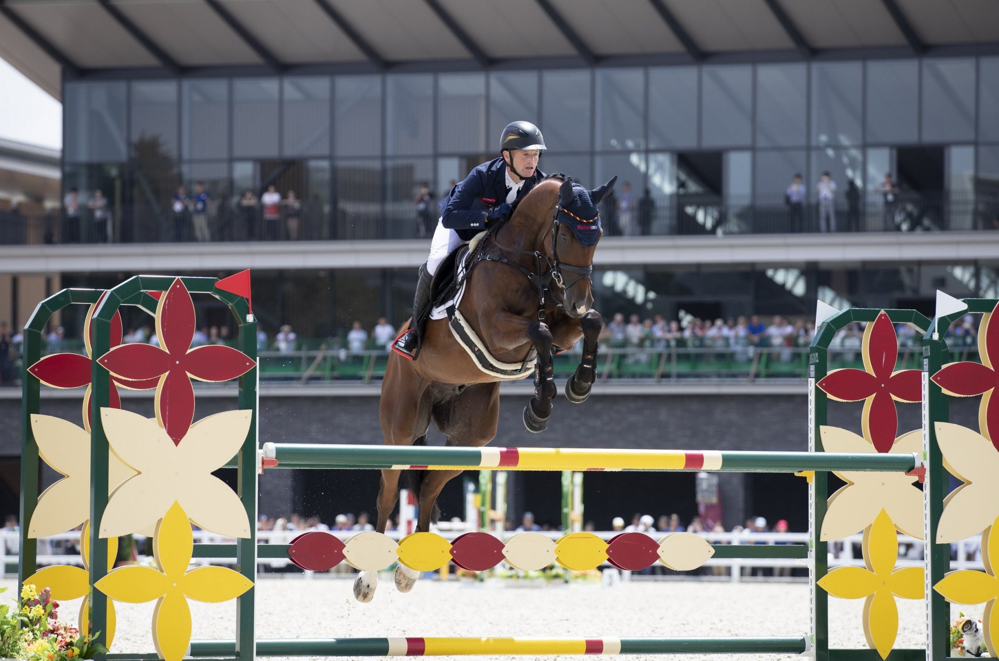 Germany's Michael Jung won the eventing test event ©FEI