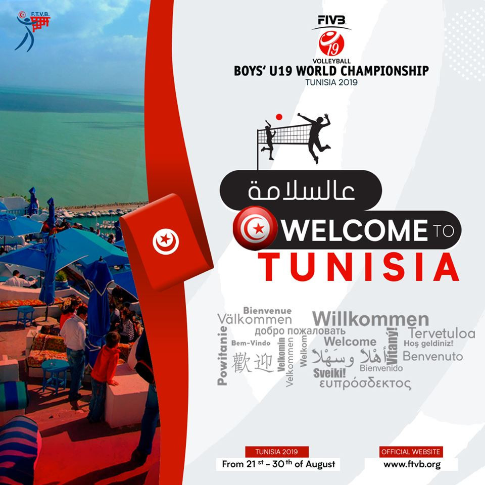 Twenty countries bid for FIVB Boys' Under-19 World Championship glory in Tunisia