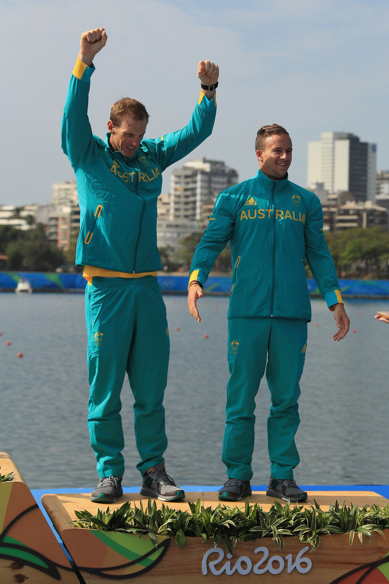 Ken Wallace and Lachlan Tame, right, of Australia won bronze in the men's K2 event at Rio 2016 ©Getty Images