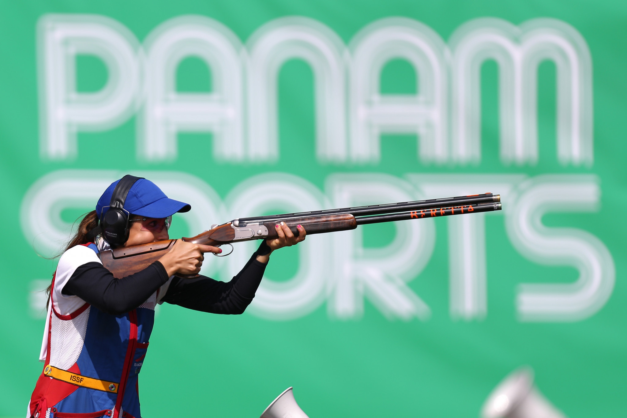 Chile's Francisca Crovetto Chadid, the silver medallist at the 2019 Pan American Games in Peru's capital Lima earlier this month, occupies second spot ©Getty Images