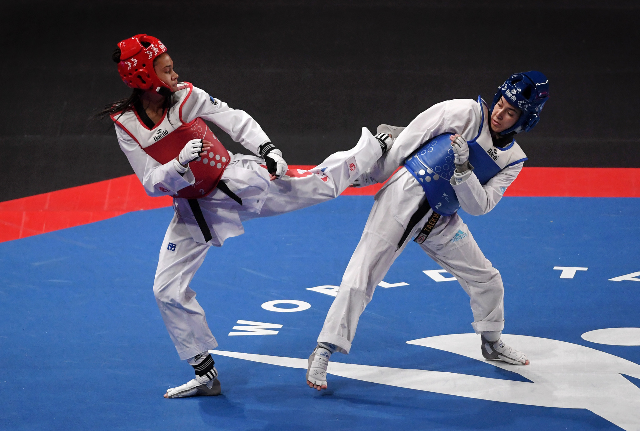 Torann Maizeroi will work with top propsects such as Aaliyah Powell, left ©GB Taekwondo