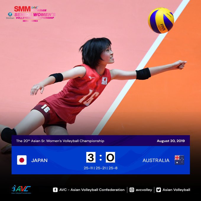 Holders Japan through to second round at Asian Women's Volleyball Championship
