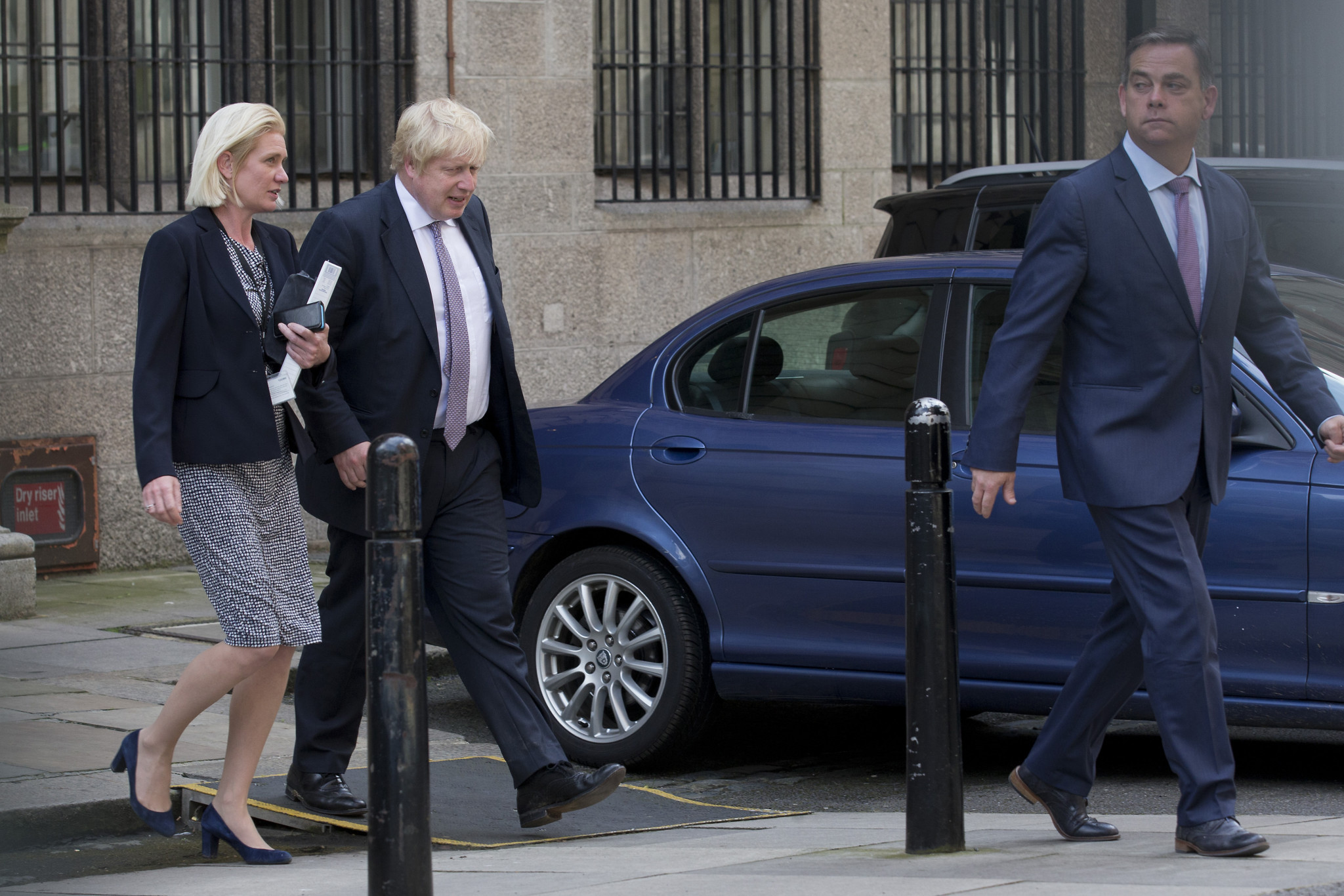 Nigel Adams, right, and Boris Johnson have had a close relationship for years ©Getty Images