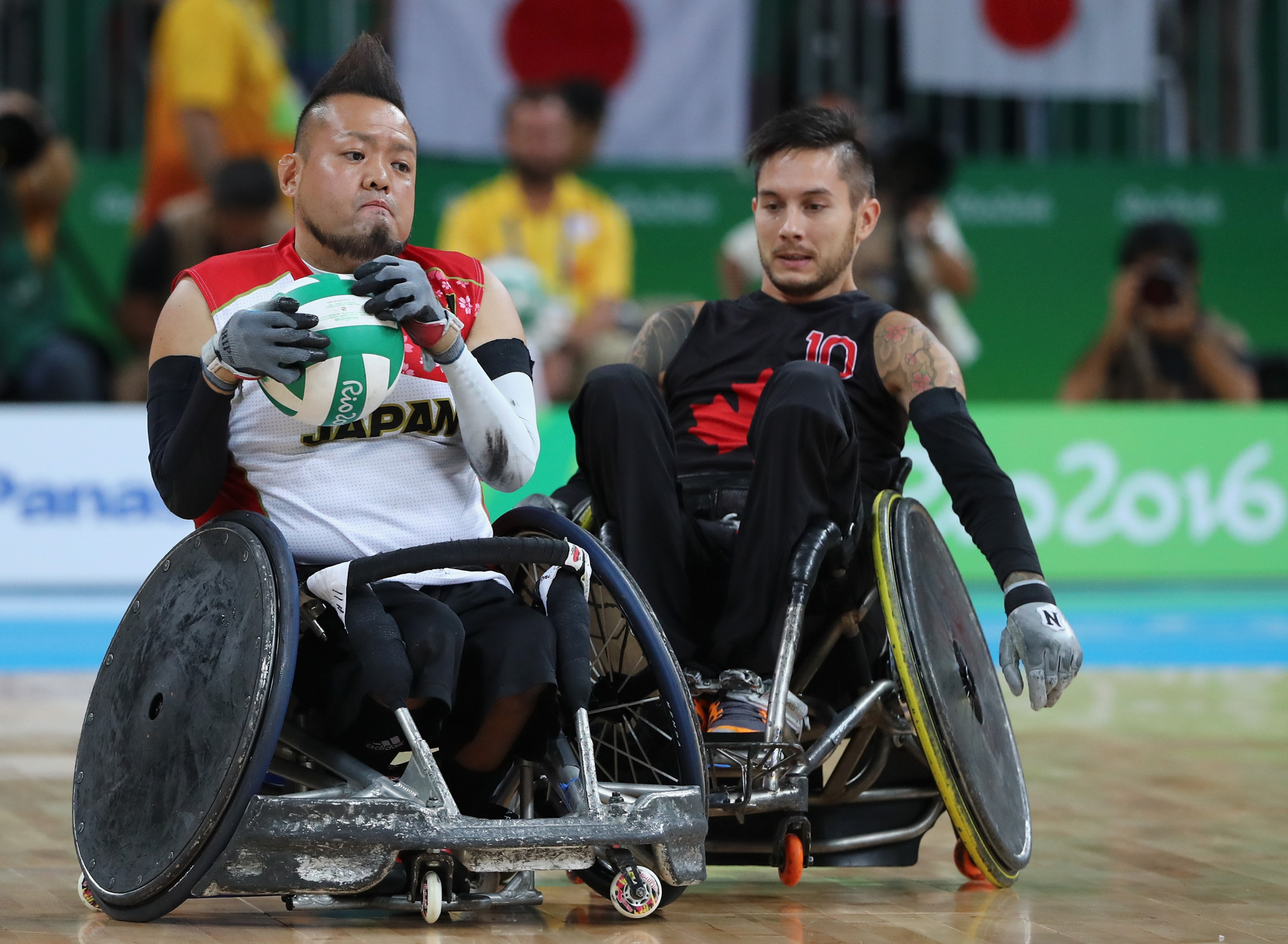 Japan's world champion wheelchair rugby team is expected to generate interest ©Getty Images