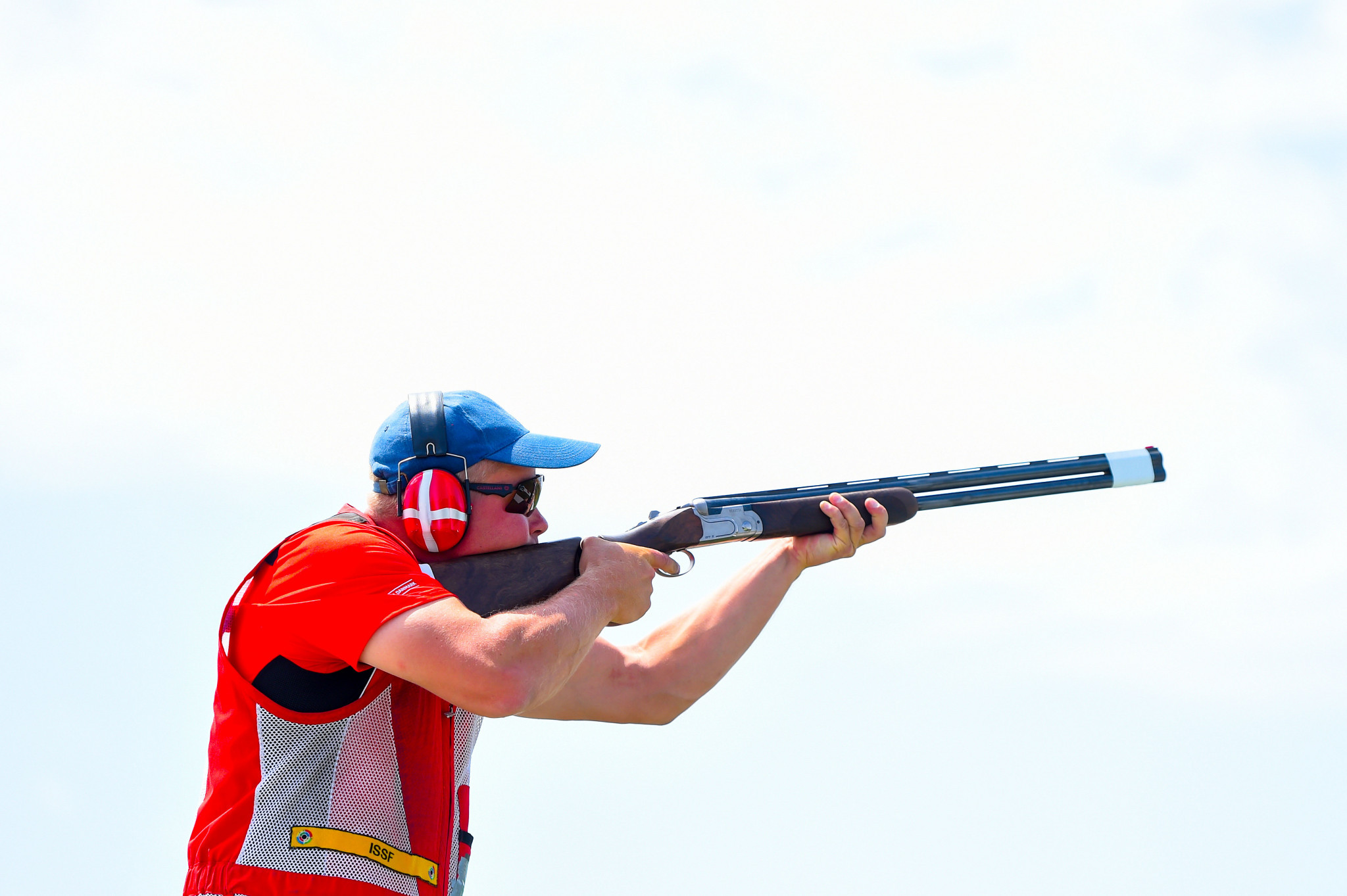 Denmark's Jesper Hansen is one of five shooters tied for the lead in the men's skeet after the first part of qualification ©Getty Images