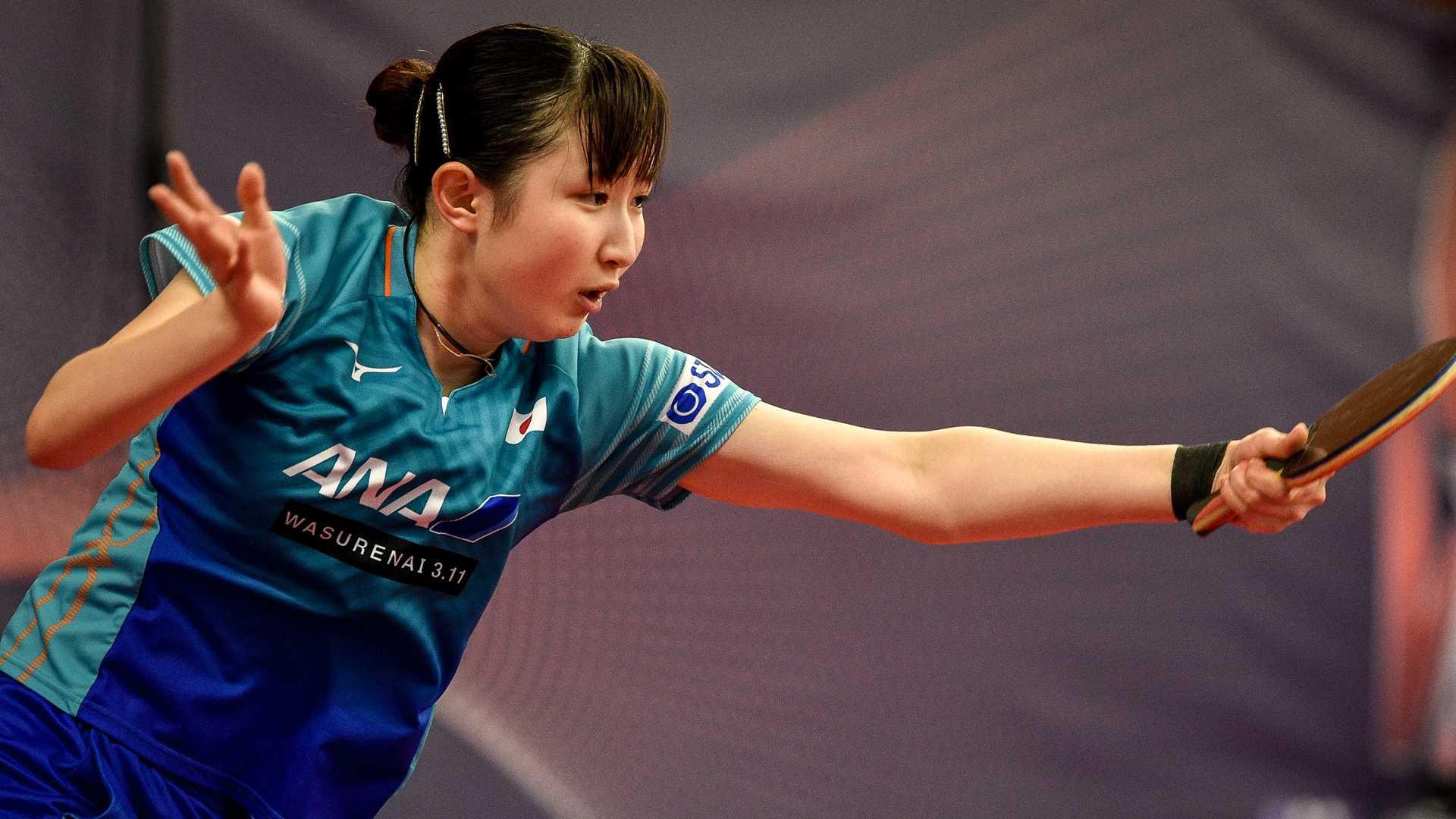 Japan's Hina Hayata is in the last 32 of the women's singles ©ITTF/Lukas Kabon