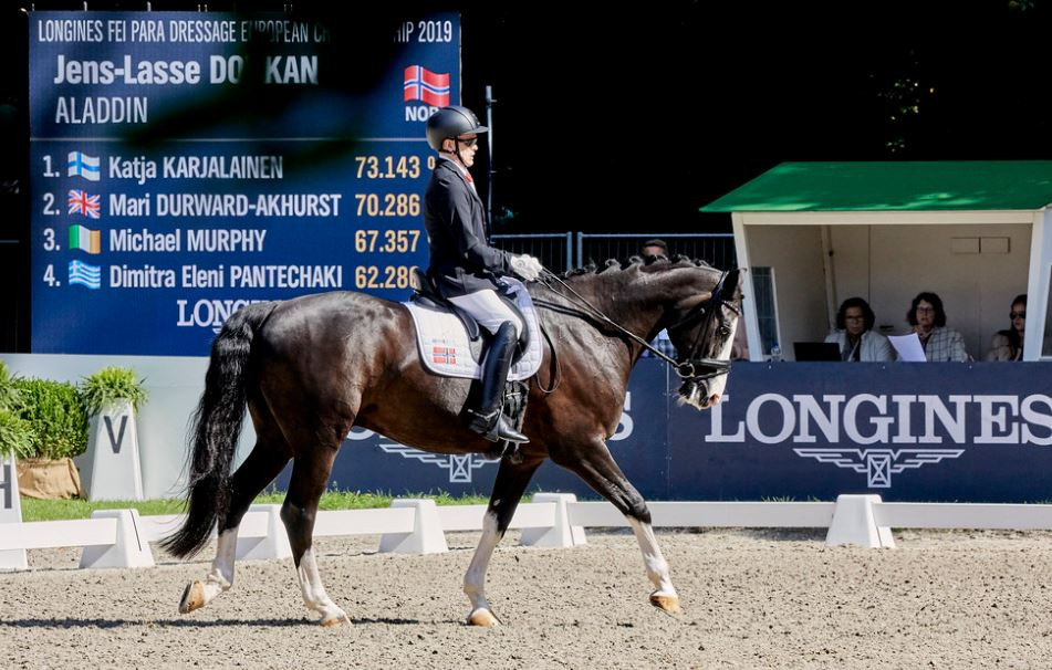 Dokkan wins Para-dressage crown at FEI European Championships