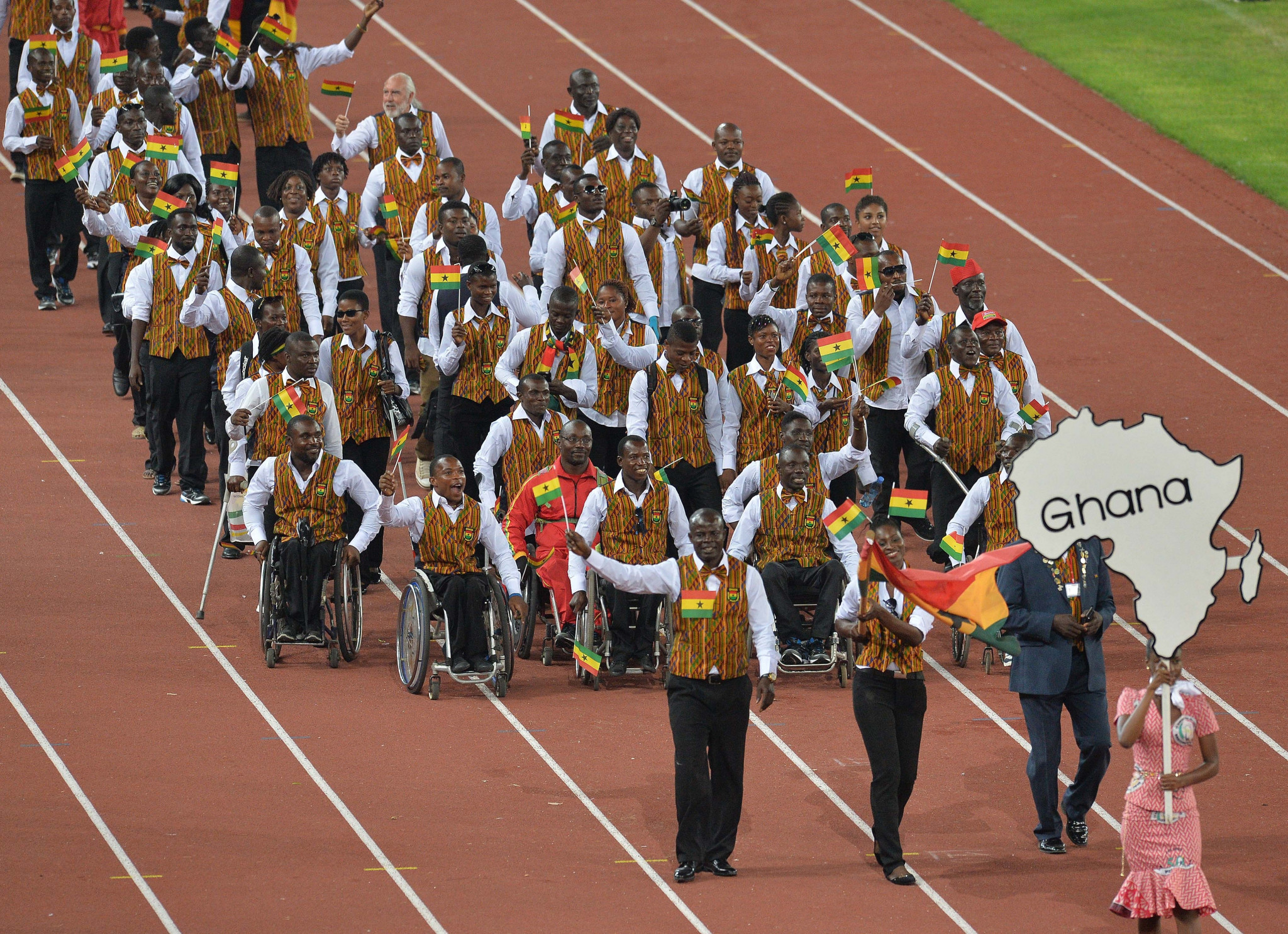 Ghana's Deputy Sports Minister gives words of encouragement to athletes at 2019 African Games