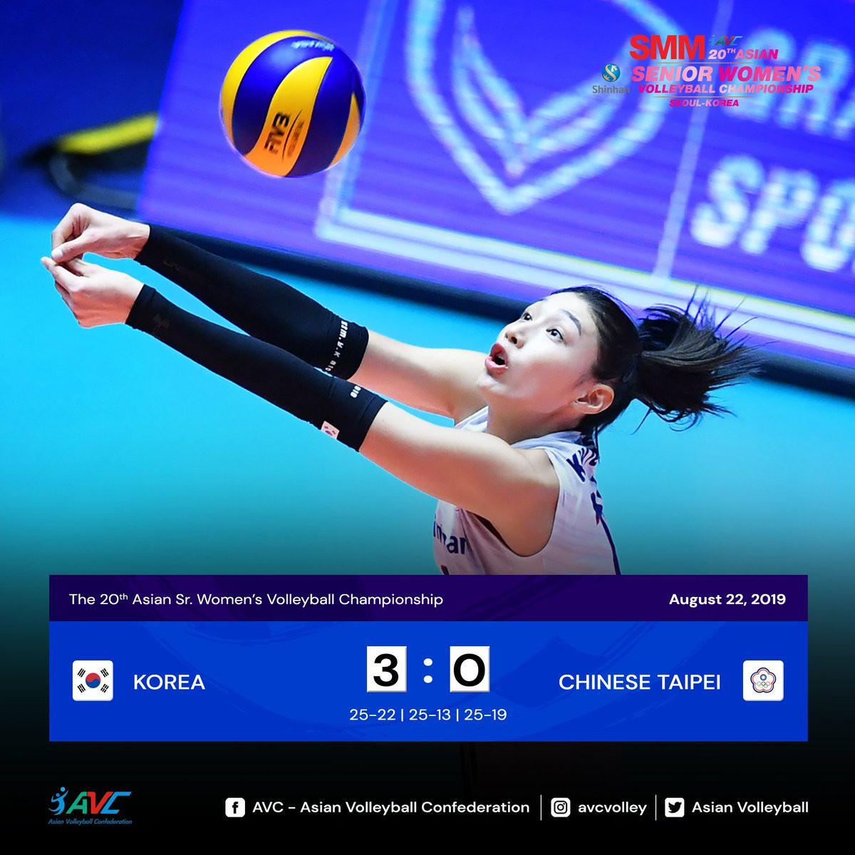 Hosts South Korea make semi-finals at Asian Women's Volleyball Championship