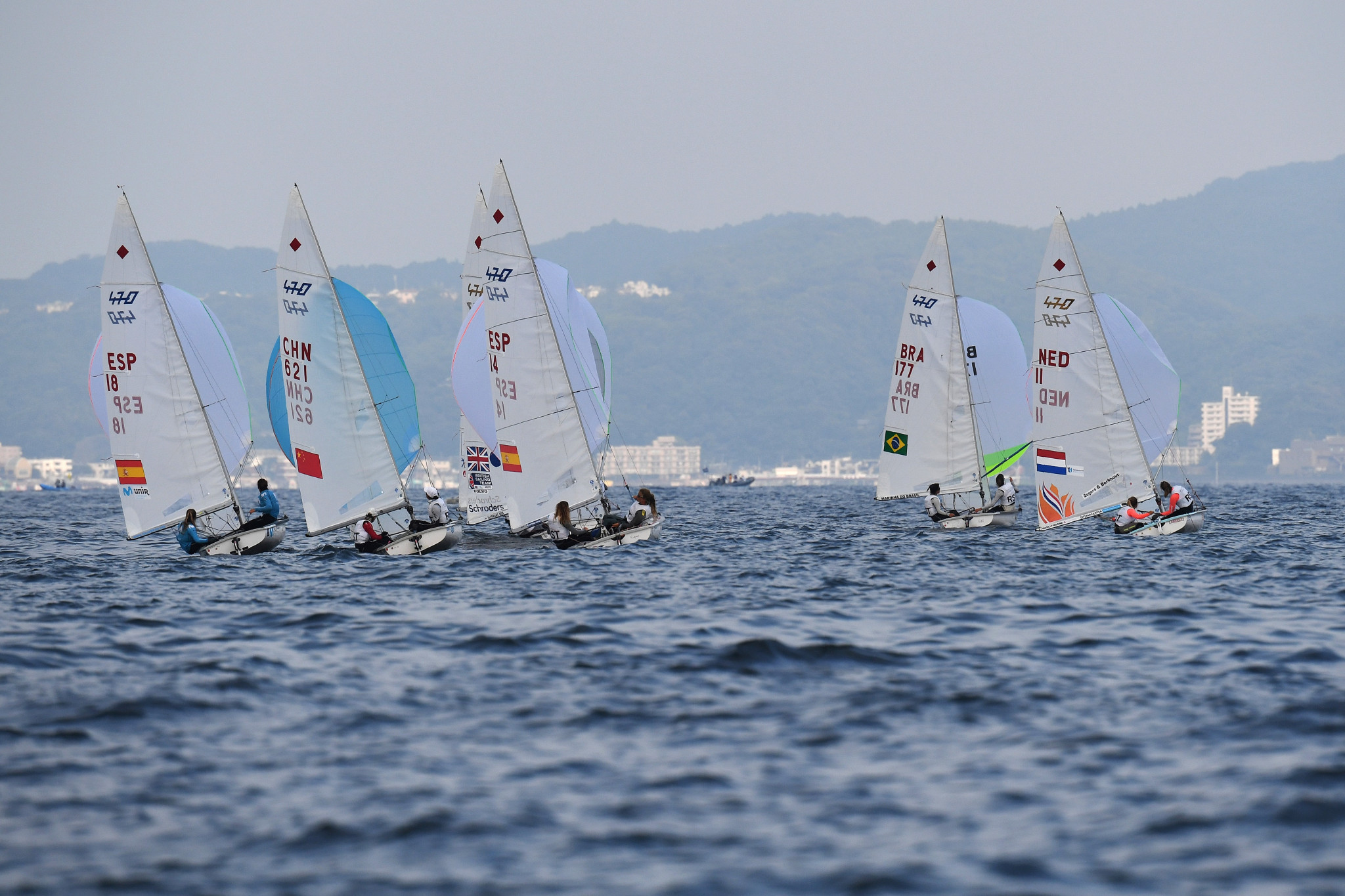 Only the women's 470 medal race took place on a day of frustration ©Getty Images
