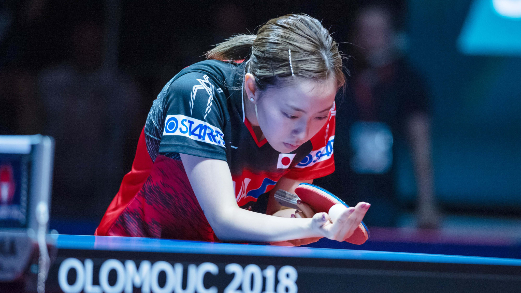Top seed and defending champion Kasumi Ishikawa of Japan was made to work hard to earn a place in the women's singles round of 16 ©ITTF/Jan Brychta