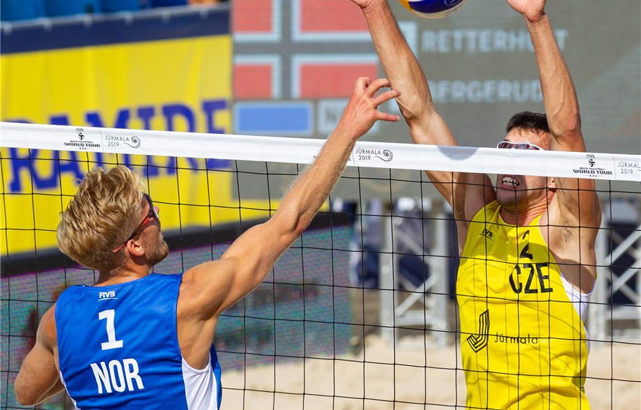Action begun today at the FIVB Beach World Tour event in Jūrmala in Latvia ©FIVB