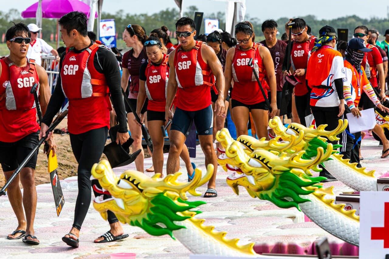 Singaporean competitors prepare for racing in Pattaya ©IDBF