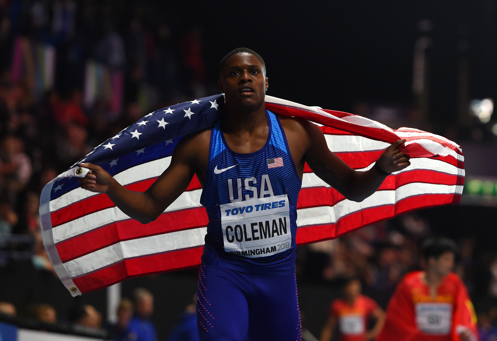 Christian Coleman won the world indoor title over 60 metres last year ©Getty Images