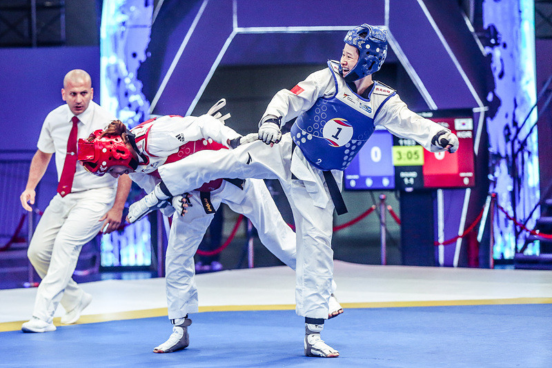The women took centre stage on the first day of the World Taekwondo World Cup Team Championships ©World Taekwondo