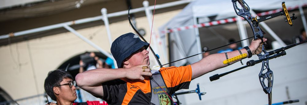 Team semi-finals and bronze-medal matches took centre stage in Madrid ©World Archery