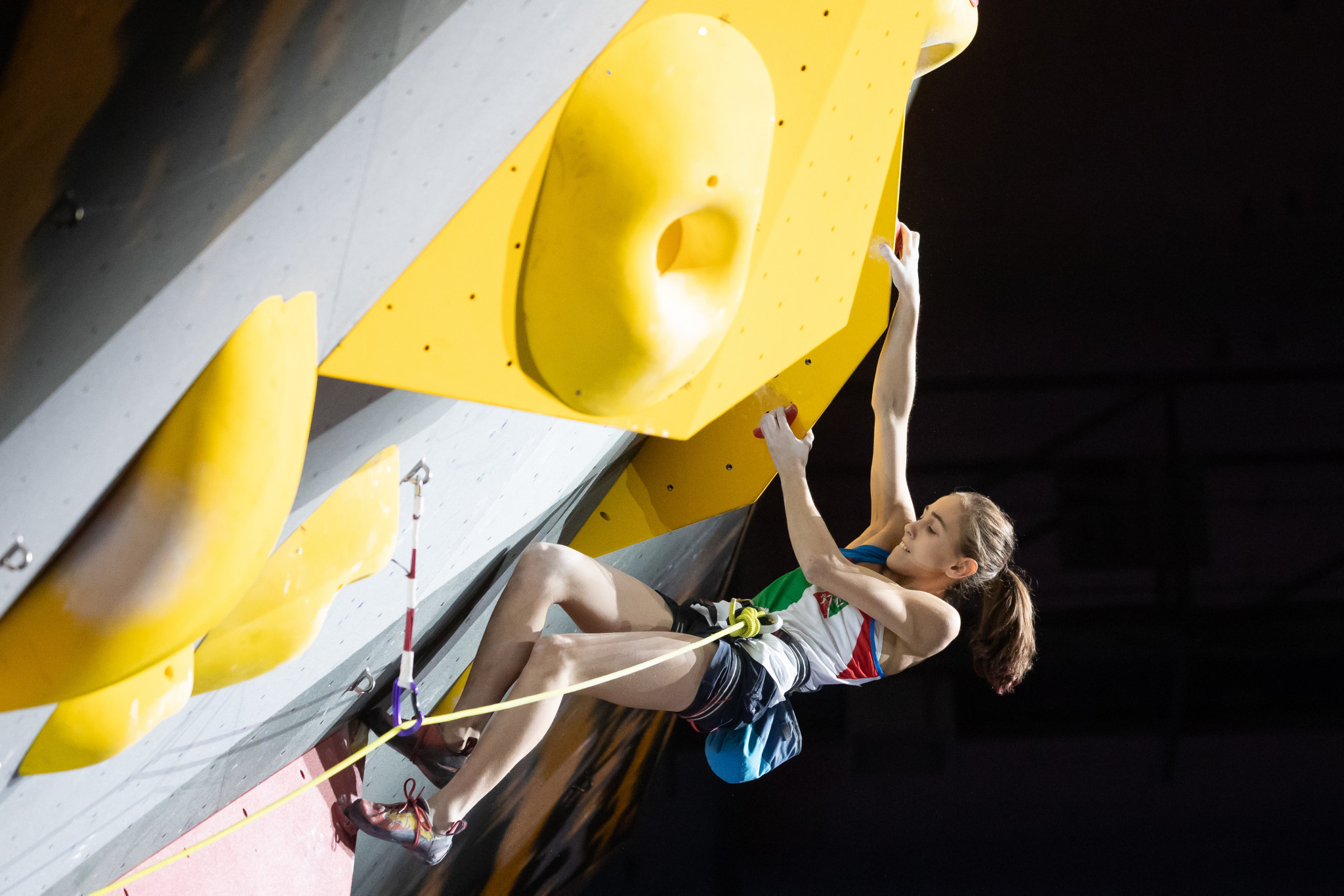 Home favourite tops women's junior qualification standings at IFSC Youth World Championships