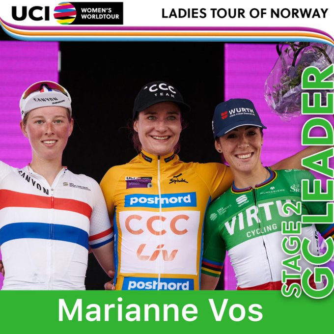 Vos wins second stage to take Ladies Tour of Norway race lead