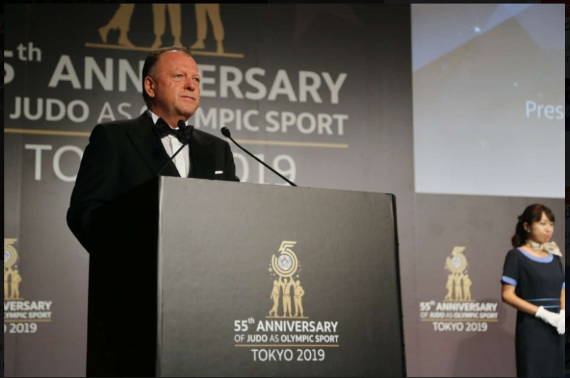 International Judo Federation President Marius Vizer was recognised for his
