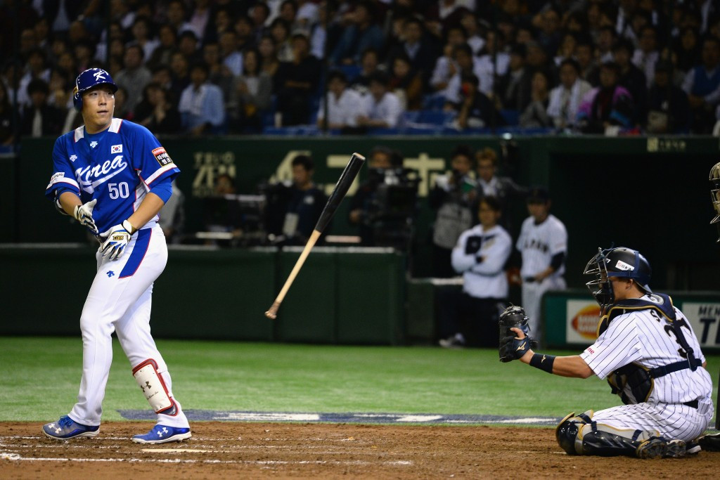 In pictures; South Korea recover to beat Japan in the first WBSC Premier12 semi-final