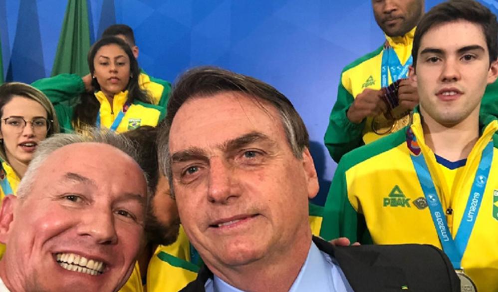 IFBB Brazil President Mauricio Arruda attended a reception with Brazil's President Jair Bolsonaro ©IFBB