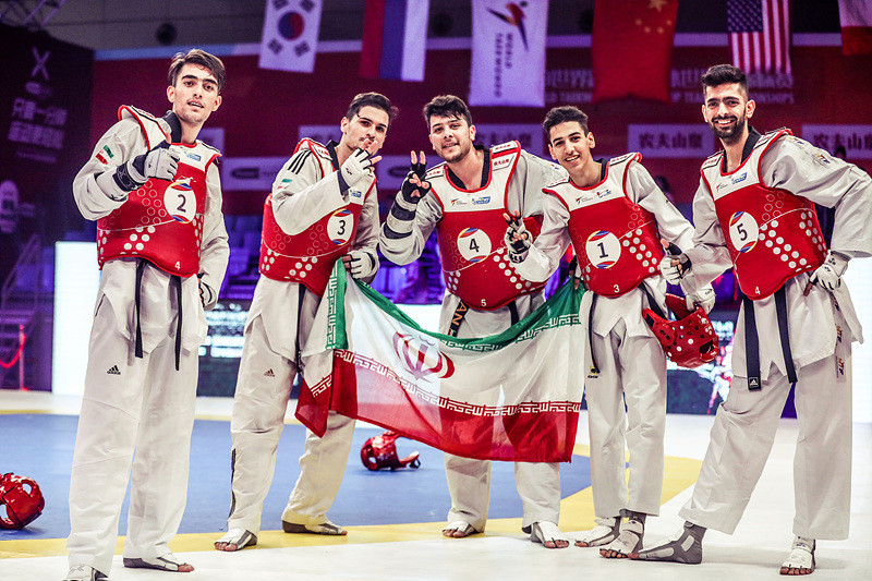 Iran upgraded their 2018 bronze to gold ©World Taekwondo