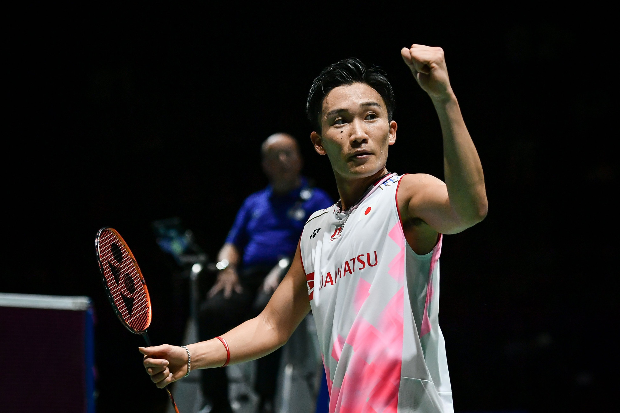 Defending champion Kento Momota progressed to the men's singles final ©Getty Images