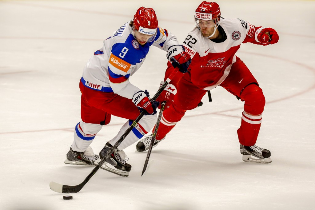 Russia secured a comfortable 5-2 victory over Denmark in Ostrava