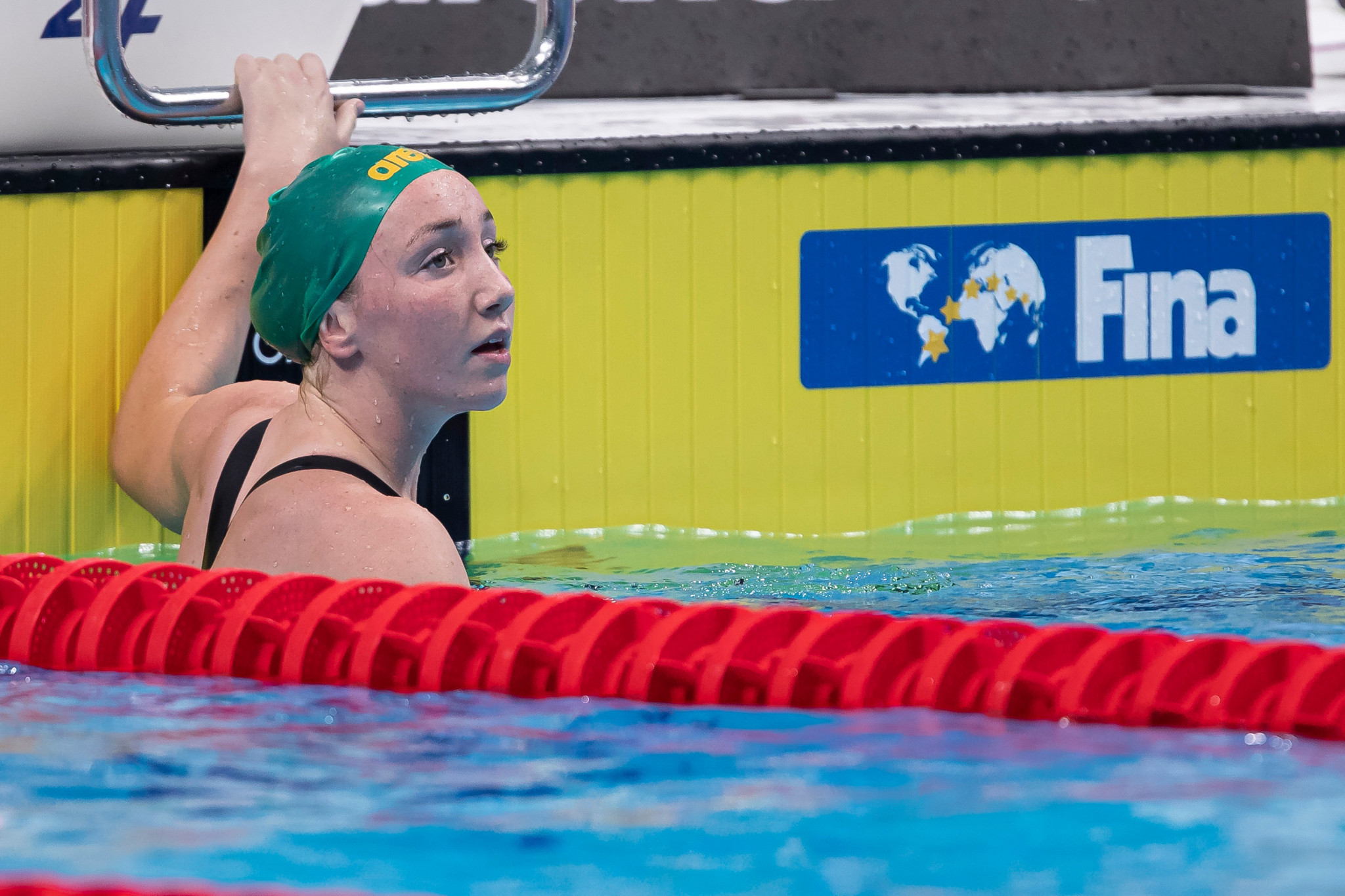 Pallister completes golden hat-trick as Papastamos sets junior world record at FINA World Junior Championships