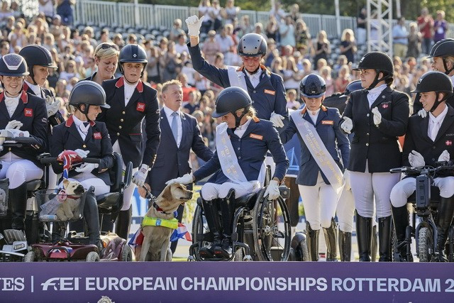 Hosts Netherlands clinch team title at FEI Para-Dressage European Championships