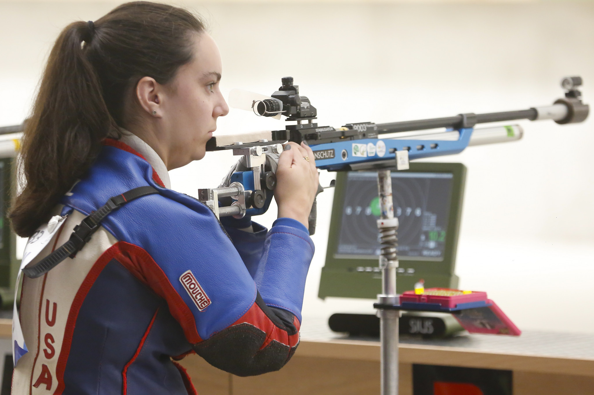 Mckenna Dahl of the United States was the victor in the mixed 10 metre air rifle stand SH2 at the Lima 2019 Parapan American Games ©Lima 2019