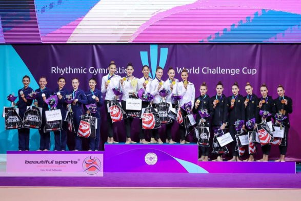 Israel were winners of the team all-around event in Cluj-Napoca, with Azerbaijan and Ukraine completing the podium ©Twitter